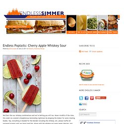 Cherry Apple Whiskey Sour Popsicles