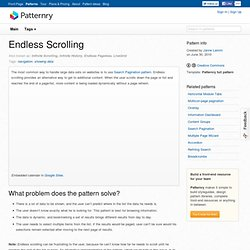 Endless Scrolling