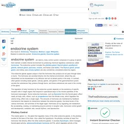 Article about endocrine system by The ...