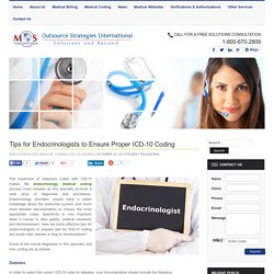 Tips for Endocrinologists to Ensure Proper ICD-10 Coding