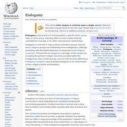 Endogamy - Wikipedia
