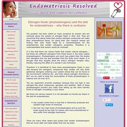Endometriosis and phytoestrogens in your diet
