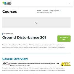 ABCGA Endorsed Ground Disturbance 201 Online Training Course