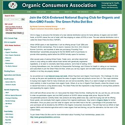 Join the OCA-Endorsed National Buying Club for Organic and Non-GMO Foods: The Green Polka Dot Box