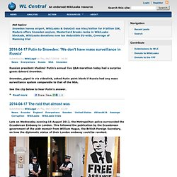 WikiLeaks Central | An unofficial information resource