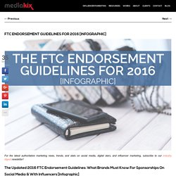 The Updated 2016 FTC Endorsement Guidelines [Infographic]