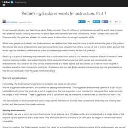 Rethinking Endorsements Infrastructure, Part 1