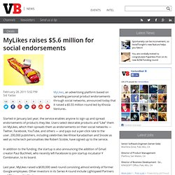 MyLikes raises $5.6 million for social endorsements