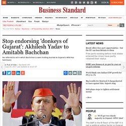 Stop endorsing 'donkeys of Gujarat': Akhilesh Yadav to Amitabh Bachchan