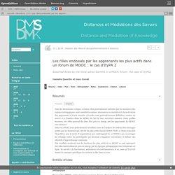 Les rôles endossés par les apprenants les plus actifs dans un forum de MOOC: le cas d'ItyPA 2