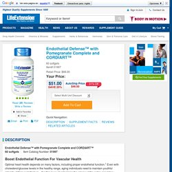 Endothelial Defense with Pomegranate Complete and CORDIART, 60 softgels