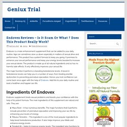 Endovex Reviews - Is It Scam Or What ? Does This Product Really Work? - Geniux Trial