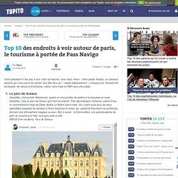 Top 10 des endroits à voir autour de paris, le tourisme à portée de Pass Navigo