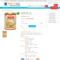Endura Mass - 1kg (Banana) at Lowest Price Delhi