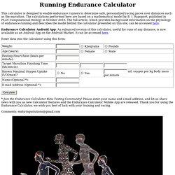 Endurance Calculator