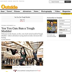 Tough Mudder Training Plan