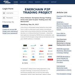 European Energy Firms Test Blockchain-Based P2P Trading
