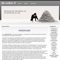 Enerconfort - de-nobis.fr