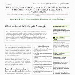 Etheric Implants & Subtle Energetic Technologies