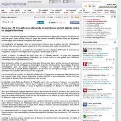 Nucléaire: 10 énergéticiens allemands et autrichiens portent plainte contre un projet britannique