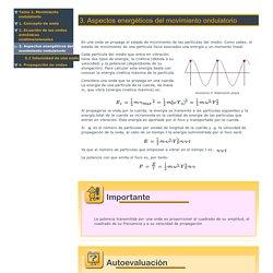 Aspectos energéticos del movimiento ondulatorio