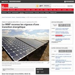 Le WWF recense les signaux d'une transition énergétique