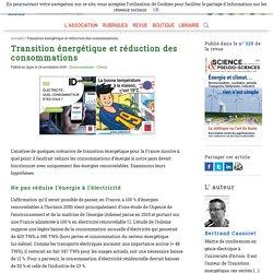 Transition énergétique et réduction des consommations
