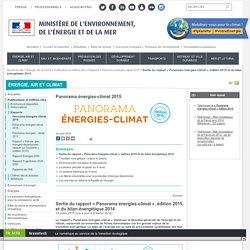 Sortie du rapport « Panorama énergies-climat », édition 2015 et du bilan énergétique 2014 - Ministère de l'Environnement, de l'Energie et de la Mer
