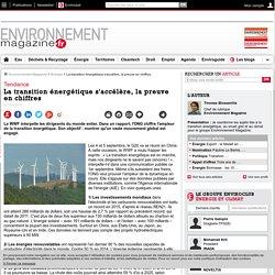La transition énergétique s'accélère, la preuve en chiffres – Énergie – Environnement-magazine.fr