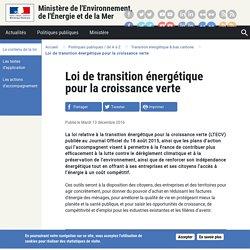 Loi de transition énergétique pour la croissance verte