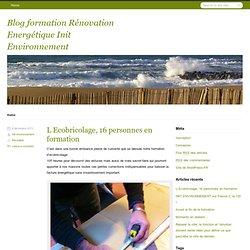 Blog eco construction Init Environnement
