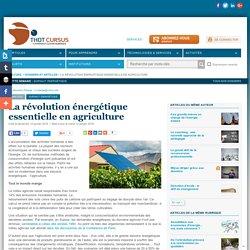 La révolution énergétique essentielle en agriculture