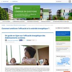Un guide en ligne sur l'efficacité énergétique des établissements scolaires