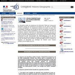 Histoire-Géographie-Lyon - L'enjeu énergétique, les hydrocarbures russes.