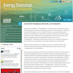 La transition énergétique allemande: une introduction