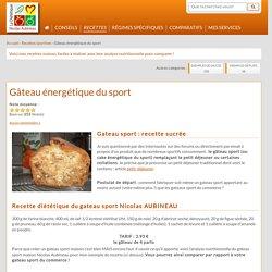Gateau énergétique du sport - Nicolas AUBINEAU