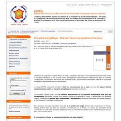 Précarité énergétique : état des lieux et propositions d'actions. Réseau des Acteurs de la Pauvreté et de la Précarité Energétique dans le Logement (RAPPEL).