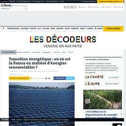 Transition énergétique: où en est la France en matière d'énergies renouvelables?