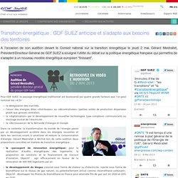 Transition énergétique : GDF SUEZ anticipe et s'adapte aux besoins des territoires
