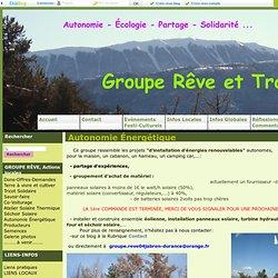 Autonomie Énergétique - Groupe Rêve et Transition