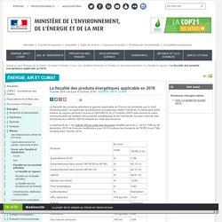 La fiscalité des produits énergétiques applicable en 2015