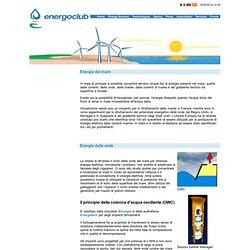 Energia elettrica dal mare.