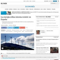 La energia eólica intenta resistir en España