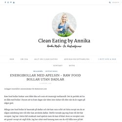 ENERGIBOLLAR MED APELSIN - RAW FOOD BOLLAR UTAN DADLAR - Clean Eating by Annika