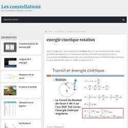 energie cinetique rotation
