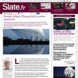 Energie-climat: l'Europe fait le service minimum