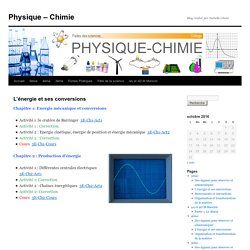 Blog Physique Chimie version 2016