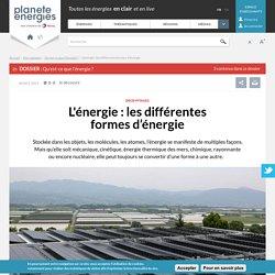 L'énergie : les différentes sources et formes d'énergie