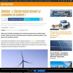 Énergie : l'éolien passe devant le charbon en Europe !
