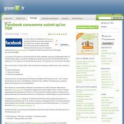 Facebook consomme autant qu'un TGV